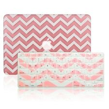 "Matte Chevron Pink Hard Case + Keyboard Cover Macbook Pro 13"" Retina A1425/A1502"