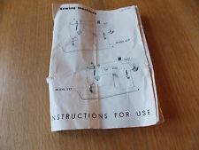 Singer Merritt Sewing Machine Instructions Manual (photocopy) Models 217/219