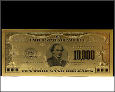 $10,000 Ten Thousand US Dollar Bill Gold US Banknote .999 24KT Gold - Mint -
