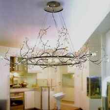 Branch Tree Like Crystal Crown Blossoms Hula Hoop Chandelier 12 Light