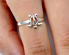 .925 Sterling Silver Ring size 10 Turtle Midi Knuckle Fashion Kid Ladies New p95