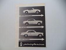 advertising Pubblicità 1960 FIAT 1500/LANCIA FLAMINIA COUPE'/ALFA GIULIETTA