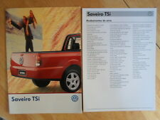 VOLKSWAGEN BRAZIL SAVEIRO TSi orig 1998-99 Glossy Sales Brochure + Specs - VW