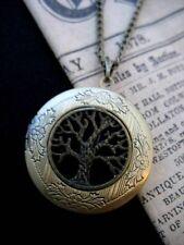 Árbol de la vida Medallón Collar Colgante Gótico Oscuro Negro Antiguo De Bronce Vintage