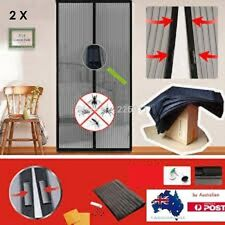 2 X Mesh Magnetic Fly Screen Mosquito Pet Patio Net Bug Door Curtain Hands Free