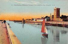 BR73020 les sables d olonne le chanel et la tour d arundel ship  france