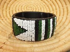 New African Maasai Wide Beaded Bangle Masai Massai jbmw5