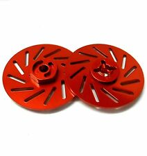 57822LR 1/10 RC M12 12mm Alloy Wheel Adaptors With Brake Disc Red 38mm x 2