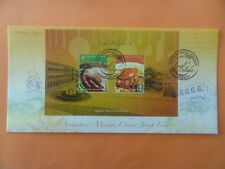 2008 First Day Cover Miniature Sheet Singapore Macao Joint Issue Local Delights
