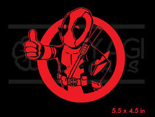Deadpool - Fallout - vault boy pose - rare  vinyl decal