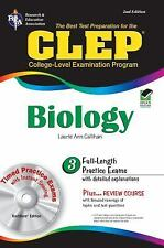 CLEP Biology w CD-ROM (CLEP Test Preparation)-ExLibrary