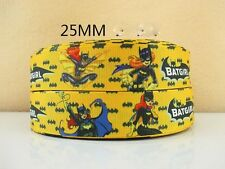 1 METRE BATGIRL RIBBON SIZE 1 INCH BOWS HEADBANDS BIRTHDAY CAKES HAIR CLIPS