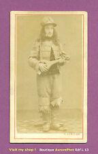 CDV ANTOINE LUMIÈRE à BESANÇON : MUSICIEN & SA MANDOLE, FRÈRES LUMIÈRE, 1865-L13