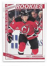 2013-14 O-Pee-Chee # 507 Matt Anderson New Jersey Devils Marquee Rookies RC