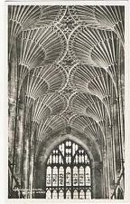 """Wonderful Ceiling at Bath Abbey""-Real Photograph"