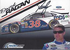 "SIGNED 2017 DAVID RAGAN ""MDS"" #38 MONSTER ENERGY NASCAR CUP B/B POSTCARD"