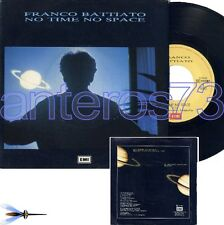 "FRANCO BATTIATO ""NO TIME NO SPACE"" RARO 45GIRI ITALIA - MINT"