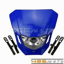 Blue Dual Sport Motorcycles Front Headlights For DIRTBIKE ALIEN NINJA ZX6 ZXR