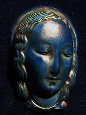 ANGE GARDIEN en PRIERE PÂTE de VERRE couleur LAPIS-LAZULY ART DECO années 20