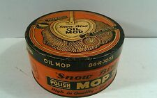 Vintage Snow Bird Oil Mop Tin Can Canister Empty Container