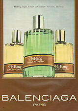 Publicité Advertising 1981  Parfum Ho Hang de BALENCIAGA   Paris