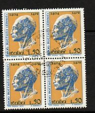 ITALY 1972 SG1333 ALBERTI 50L Block of 4 FINE USED