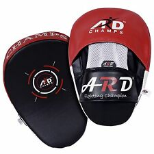 2Fit™ Punching Mitts Leather Art Boxing Kick Punching MMA Training Focus Pad