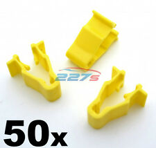 50x Honda Civic, CRV & HRV Yellow Wheel Arch Trim Clips- Snap Fit  90601-SMG-003