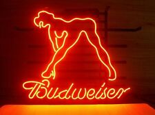 "New Budweiser Bud Light Sexy Lady Girl Beer Bar Neon Light Sign 20""x16"" Q28M"