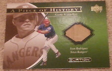 2001 Upper Deck Ovation Ivan Rodriguez game-used bat card A Piece of History