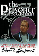 THE PRISONER AUTOGRAPH CARD PA2 OF CHRISTOPHER BENJAMIN AS NO. 2'S ASSISTANT
