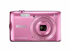 Nikon Coolpix A300 20.1MP Point and Shoot Camera with 4x Optical Zoom (Pink)