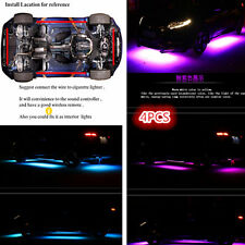 Underbody Under glow Kit Neon Strip Under Car Body Glow Music Control Light Tube