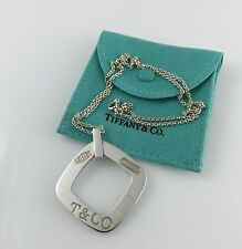 Tiffany & Co. Sterling Silver 925 T & Co. 1837 Square Pendant/Tag  Necklace 18""