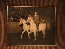 Zab & Al-Marah El Hezzez Winning Pair Class Arabian Horse Original Photo