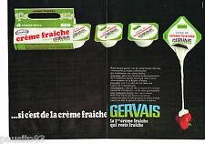 PUBLICITE ADVERTISING 065  1968   GERVAIS   creme fraiche en coque ( 2 pages)