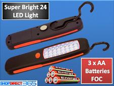 Inalámbrico Magnético 24 Led lámpara de inspección Antorcha Linterna Luz Camping trabajo Reino Unido