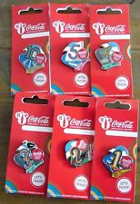 LONDON 2012 OLYMPICS COCA COLA DAYS TO GO 6 PIN BADGE SET