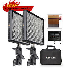 2x Pro Aputure Amaran AL-528W High CRI 95+ LED Video Studio Tv Light Kit +Bag