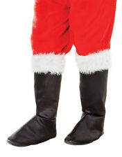 Santa Men's Black Boot Tops Deluxe Medieval Peter Pirate Christmas Fancy Dress