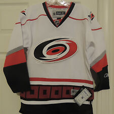 NHL REEBOK Premier Carolina Hurricanes Away Hockey Jersey Youth L/XL MSRP $80