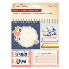 La De Dah Journal Sticker Flip Book MODERN CABIN Navy Peach -  Planner Scrapbook