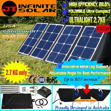 Ultra­Light Portable*12V 100W FOLDING SOLAR PANEL KIT MONO CAMPING *USA CELL