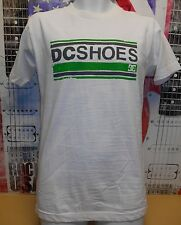 DC SHOES WHITE VINTAGE GRAPHIC LOGO TSHIRT NEW MENS Small