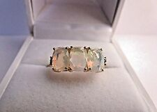 STUNNING ETHIOPIAN OPAL&CHOCOLATE COLORED DIAMOND 10K YELLOW GOLD RING