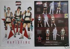 SDCC Comic Con 2013 Rapidfire Signed poster by Chritian Gossett & Ana Alexander
