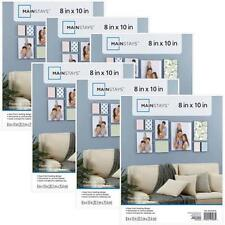 """Mainstays 8""""x10"""" with Glass Frame Picture Home Decor Basic White Set of 6 NEW"""
