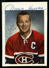 GLOSSY CARD SIZED AUTOGRAPHED BY DOUG HARVEY~MONTREAL CANADIENS (1960-61)