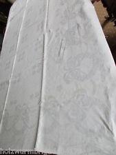 schönes altes Halbleinen Leinen Tischtuch Tafeltuch feines Jugendstil um 1910