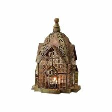 Glass and Metal Architectural Candle Lantern - Green Patina Windale House